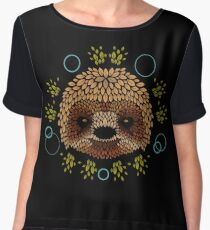 Sloth Face Women's Chiffon Top