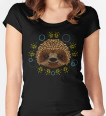 Sloth Face Women's Fitted Scoop T-Shirt