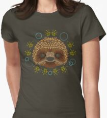 Sloth Face Womens Fitted T-Shirt