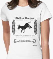 Bishkek Onagers: Professional Sportsing Team Womens Fitted T-Shirt