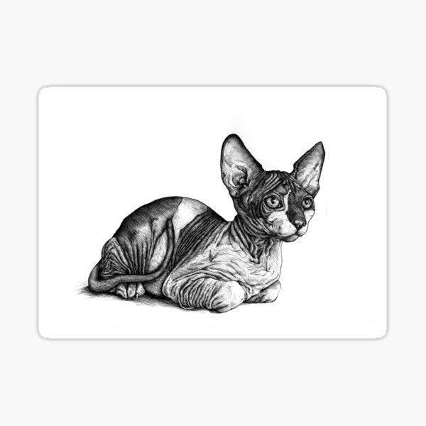 El gato real Pegatina