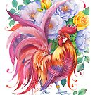 Year of the Rooster - Red / Fire Element by Anna Bucciarelli