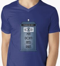 Good Men Dont Need Rules - Doctor Who Mens V-Neck T-Shirt