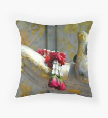 Hand And Garland Throw Pillow
