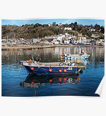 E5 Fishing Boat - Lyme Regis Harbour Poster