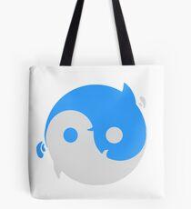 Yin yang whales Tote Bag
