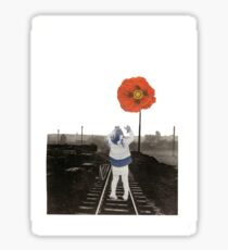 The Girl and the Poppy Sticker