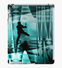 Climbing the frozen waterfall iPad Case/Skin