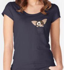 Taschenmonster Tailliertes Rundhals-Shirt