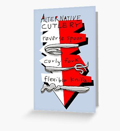 Alternative Cutlery Greeting Card
