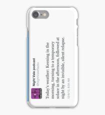 Night Vale Twitter Screencap #3 iPhone Case/Skin