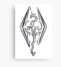 Skyrim logo Metal Print
