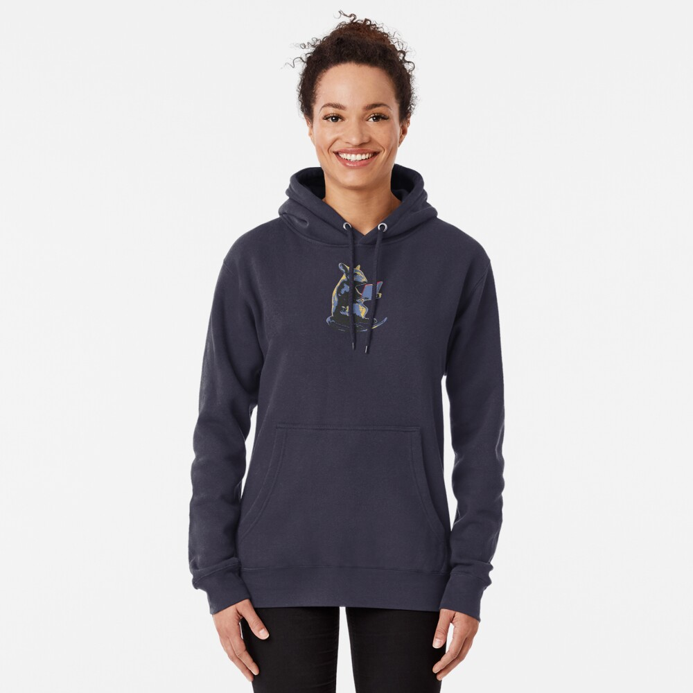 Book Mouse - blue Pullover Hoodie