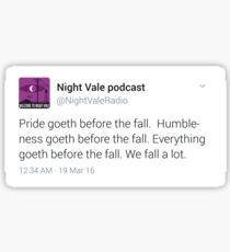 Night Vale Twitter Screencap #5 Sticker