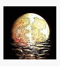 drowning moon Photographic Print