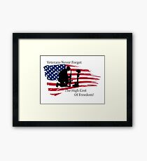 Cost of Freedom Framed Print