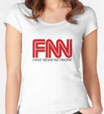 FNN - Fake News Network Women's Fitted Scoop T-Shirt