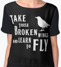 The Beatles, Blackbird Lyrics Chiffon Top