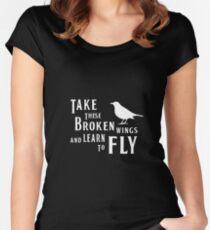 The Beatles, Blackbird Lyrics Women's Fitted Scoop T-Shirt