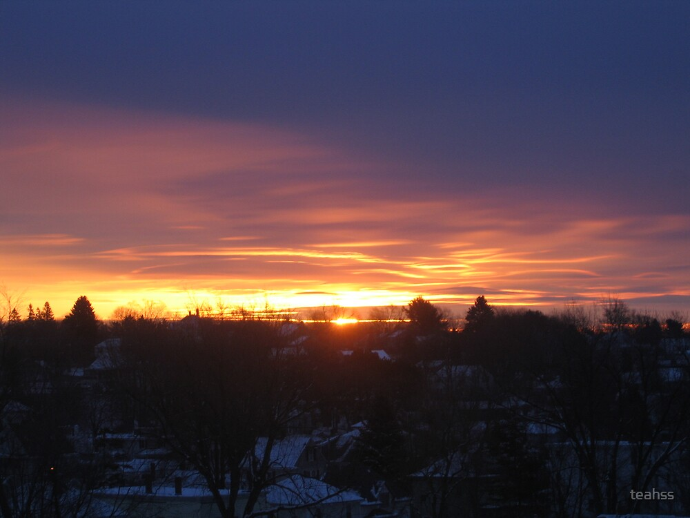 A winter Sunrise in Jan. 2006 by teahss