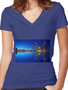 Rotterdam Netherlands Women's Fitted V-Neck T-Shirt
