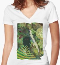 Jungle Monster ! Women's Fitted V-Neck T-Shirt