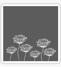 poppy graphic spring design nature illustration flower grey Sticker