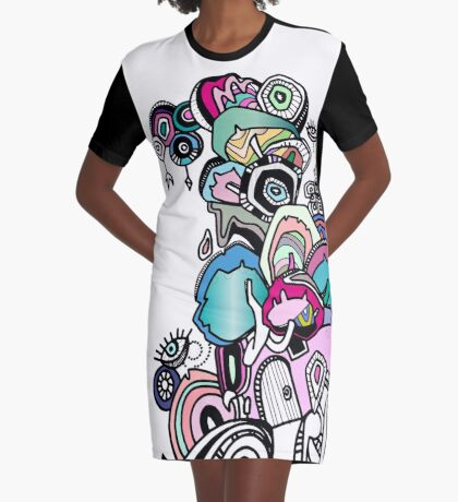 Eye See You Graphic T-Shirt Dress