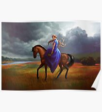 Berlyne Alvarado on Horseback - The Silver Eye Poster