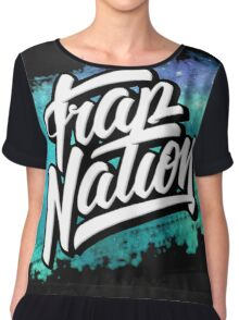 Trap Nation Faded Space (Blue) Chiffon Top