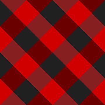 Red plaid #1 by plaidfluff