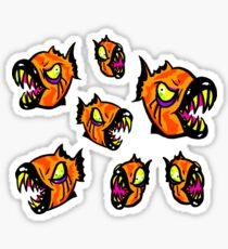 Angry Piranha Fish Sticker