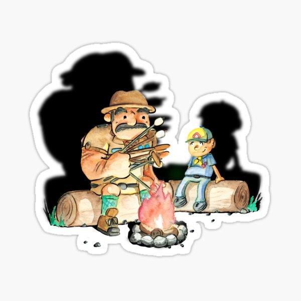 Campfire cookout Sticker