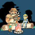 Campfire cookout by BunnyMaelstrom