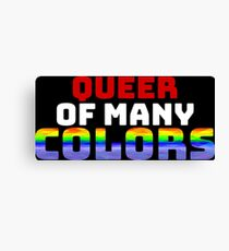 Queer of Many Colors Canvas Print
