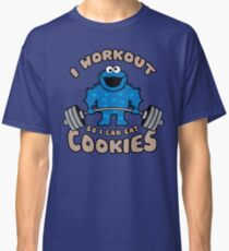 I Workout So I Can Eat Cookies (Cookie Monster) Classic T-Shirt
