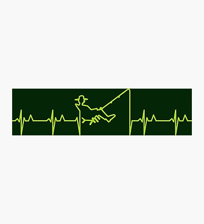 My heart beats for fishing (green) VRS2 Photographic Print