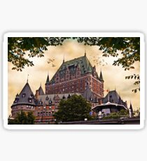 Chateau Frontenac at Sunset Sticker
