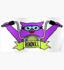 Roadkill Cat Biker Poster