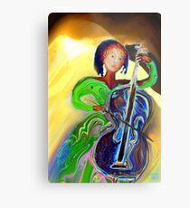 The Passionate  Cello Player Metal Print