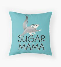 Sugar Glider joey is getting a ride Throw Pillow