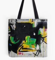 Black and Lime Tote Bag