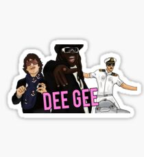 I'm on a boat DG Sticker