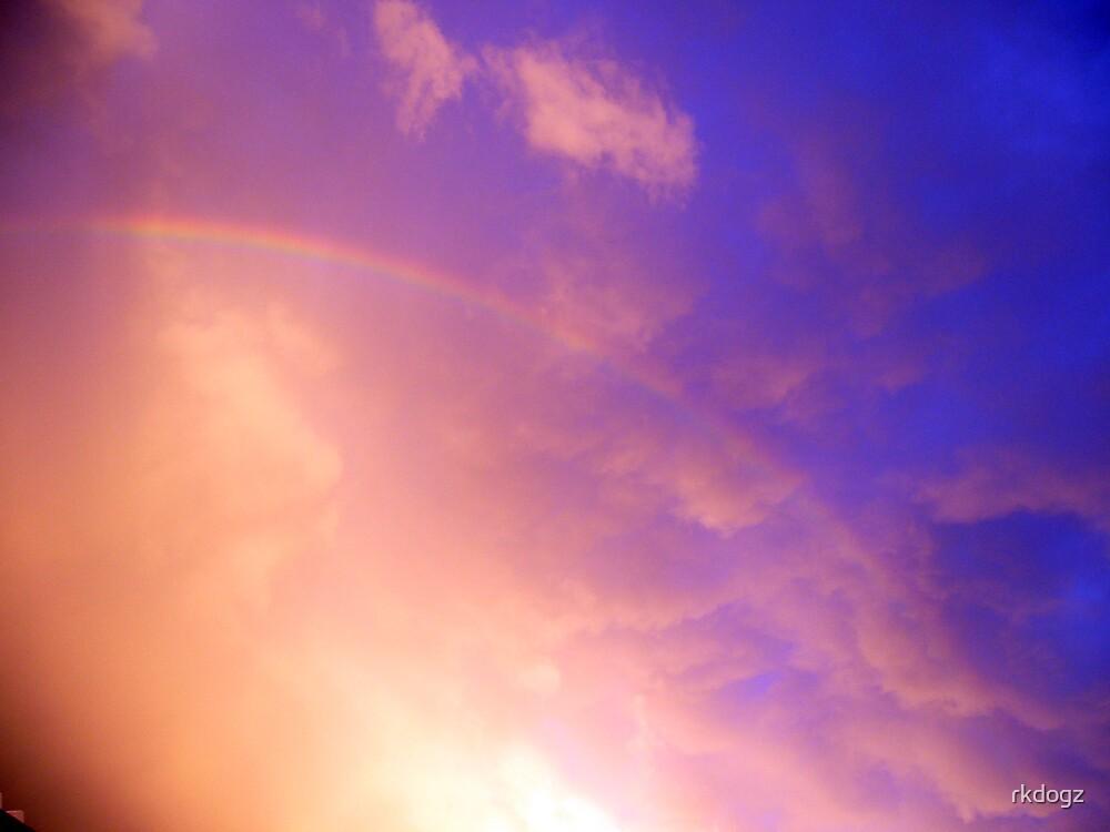 rainbow in purple clouds by rkdogz