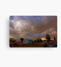 Dusk in suburbia Canvas Print