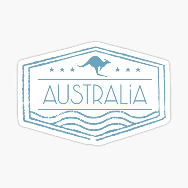 Australia Stamp Sticker