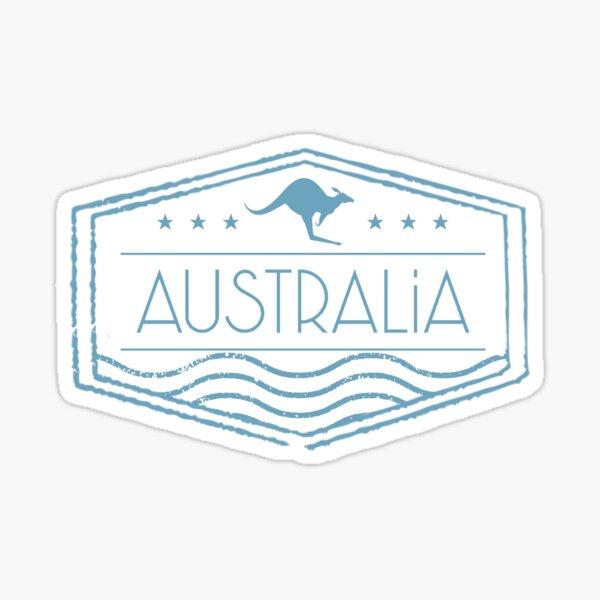 Sello de Australia Pegatina