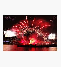 New Year Red Eye Photographic Print