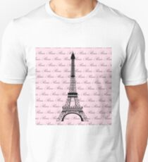 Pink Paris Eiffel Tower Unisex T-Shirt