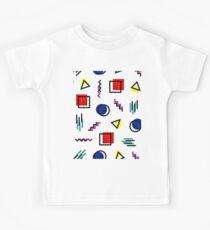 Memphis Style Pattern Design Kids Tee